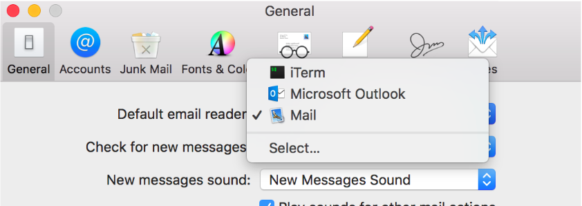 Change Default Mail Client – Entelo